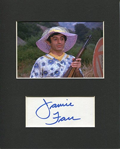 Jamie Farr MASH Star Klinger Signed Autograph Photo Display from HollywoodMemorabilia