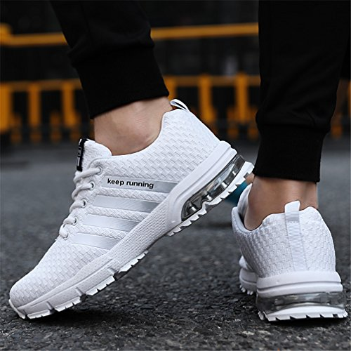 Femmes Marche Chaussures Entraneurs B Air Running Blanc Gym Cushion Sport De Athltique Sollomensi Baskets Hommes Fitness 75Aqff