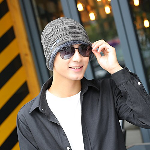 Sombrero Lana Maozi frío Ola explosiones Abrigo Punto de y Raya 5 Horizontal Coreana Cachemira Hierro Hombre 4 de z0zrq