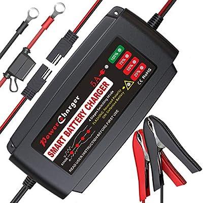 KEW BMK 12 V 5 Amp Cargador de batería automático Mantenedor de ...