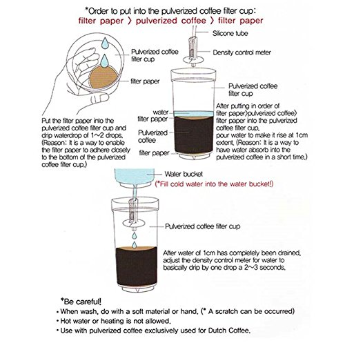 Dutch Q Cold Brew Coffee Iced Coffee Maker Wooden Eiffel Tower Home Hand Drip Dutch Machine &PDF English File on How to assenble& Free Gift (Key Ring) by Dutch Q (Image #6)