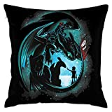 how to decorate your room JIAYICENK How to Train Your Dragon Decorative Reading Pillow Covers Case Pillowcases 18x18 in