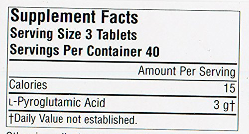 Source Naturals L-Pyroglutamic Acid, 1000mg, 120 Tablets (Pack of 12) by Source Naturals (Image #1)