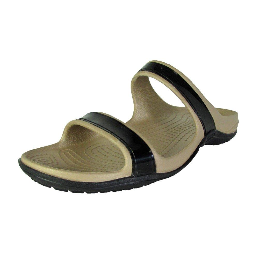 6833eea2e497ad crocs Patra II Women Sandal in Black  Amazon.in  Shoes   Handbags