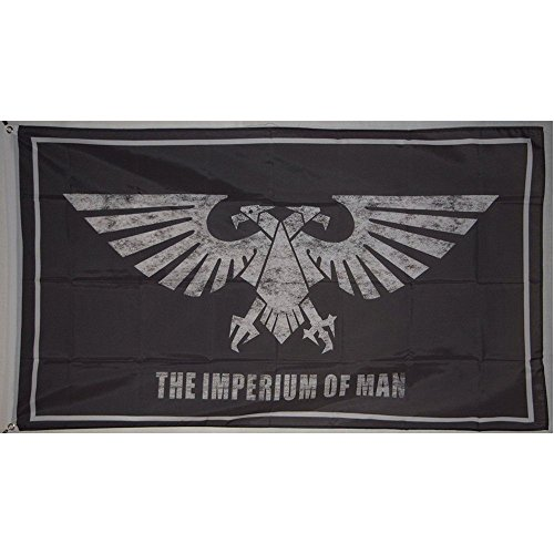 (FayLagee-yx The Imperium of Man Warhammer Galactic Empire Eagle Flag Banner 3