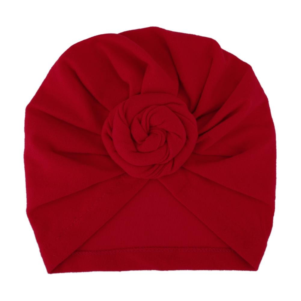 Domybest Newborn Kids Baby Lovely Hats Turbans Caps Children Headwear Wrinkle Hat