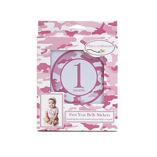 Child-to-Cherish-Monthly-Camo-Belly-Stickers-Pink