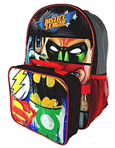 DC Comics Justice League Kids Backpack with Lunch - Comics Backpack Dc