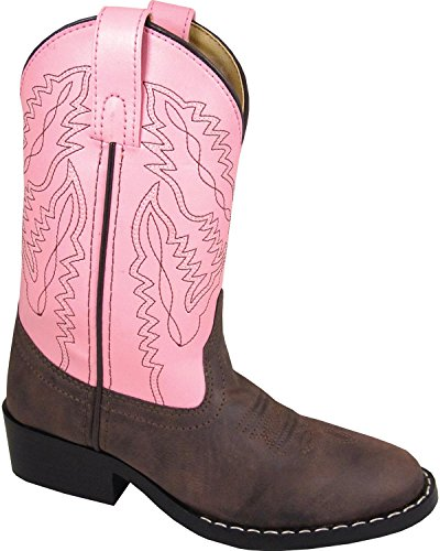 Smoky Mountain Toddler Girls Monterey Boots Brown/Pink, 8M