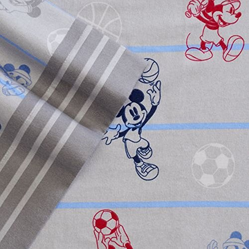 Disney Mickey Mouse Flannel Sheet Set Twin Bed Sheets Bedding ()