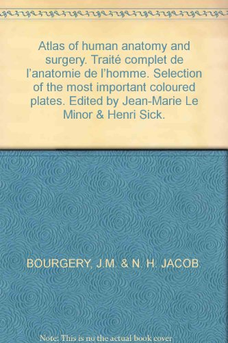 Atlas of human anatomy and surgery. Traité complet de l'anatomie de l'homme. Selection of the most important coloured plates. Edited by Jean-Marie Le Minor & Henri (Pink Coloured Plate)