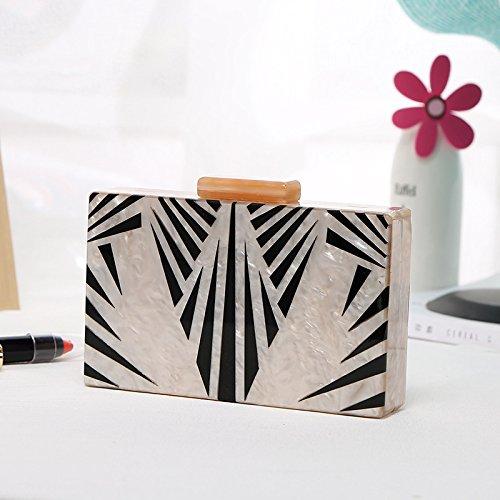 acrylic shoulder handbag female chain bag Square dinner single bag Style 1 Telinbu w0ZqHI1B