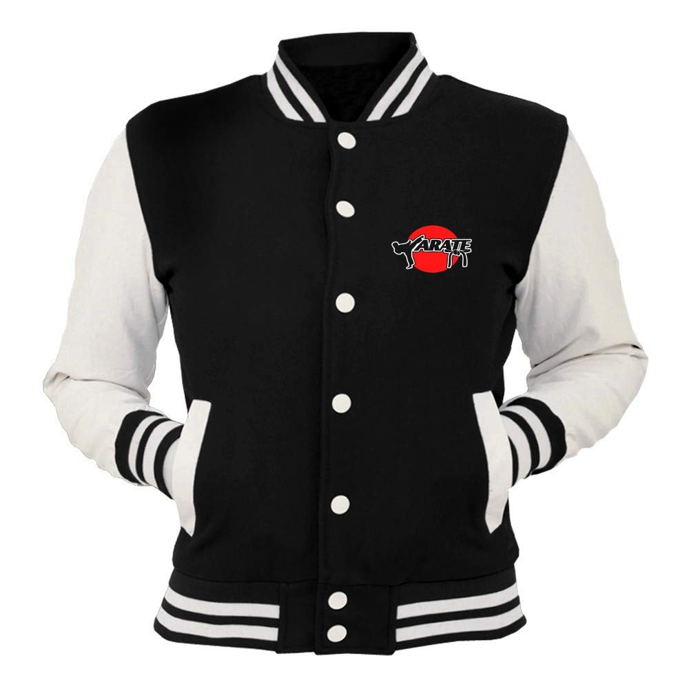 Jacken T Shirtshock College Jacke Schwarz OLDENG00555 Karate