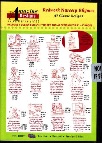 Amazing Designs Redwork Nursery Rhymes ()