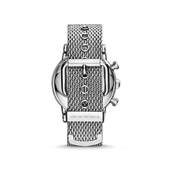 Emporio Armani Orologio Cronografo Quarzo Uomo con Cinturino in Mesh di Acciaio AR1808 4