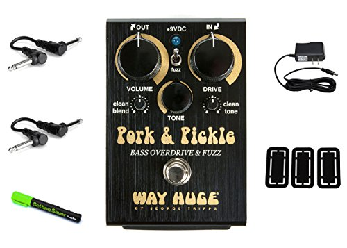 Way Huge WHE214 Pork and Pickle Bass Overdrive PRYMAXE PEDAL BUNDLE (Pork Pickles)