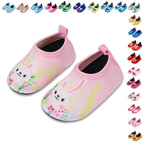Lauwodun Baby Boys Girls Water Shoes Barefoot Aqua Sock Shoes for Beach Pool Surfing Yoga Swimming Walking-color14-1920