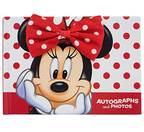 Disney Parks Exclusive Minnie Mouse Autograph and Photo Book - Disney World and Disneyland - Perfect for Princess and Character Autographs!