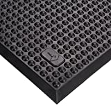 Milagon WSWM0203 Polyurethane Vigor Anti-fatigue Workmat, 36'' Length x 24'' Width x 5/8'' Height, Dark Charcoal