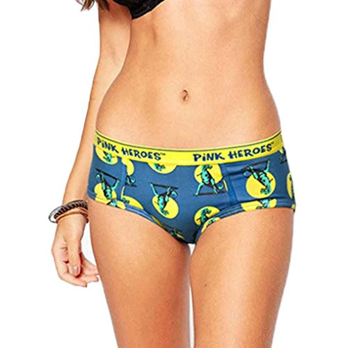 NEARTIME Lover's Underwear, Cartoon Women Cute Underpants Boxers Briefs Mens Shorts (L, Blue-F)]()