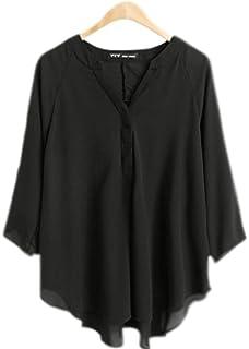 fdc1df923b1b79 Zumeet Women's Long Sleeve V-neck Silk Crepe Shirt Colour Red at ...