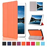 iPad Mini 4 Case ,Lin Shop Ultra Slim Lightweight Stand Cover Case with Auto Sleep/Wake Function for Apple iPad Mini 4 (2015 edition) 7.9 inch (orange)