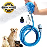 Dog Shower,Pet Bathing Tool,Shower Brush Grooming Tool Sprayer and Scrubber for Dogs and Cats By Old Tjikko (Blue)