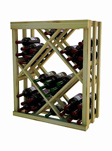 Wine Cellar Innovations DPI-UN-ODIAM-A3 Designer Series Open Diamond Bin Wine Rack, Rustic Pine, Without Lacquer Finish, ()