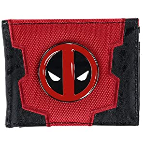 Marvel Deadpool Bi-Fold Boxed Wallet, Red & Black, One Size