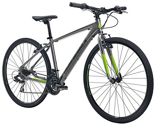 "Diamondback Bicycles Trace ST Dual Sport Bike, Silver, 22""/X-Large"
