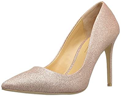 Daya by Zendaya Womens kyle Pointed Toe Classic Pumps Rose Gold Size 9.0