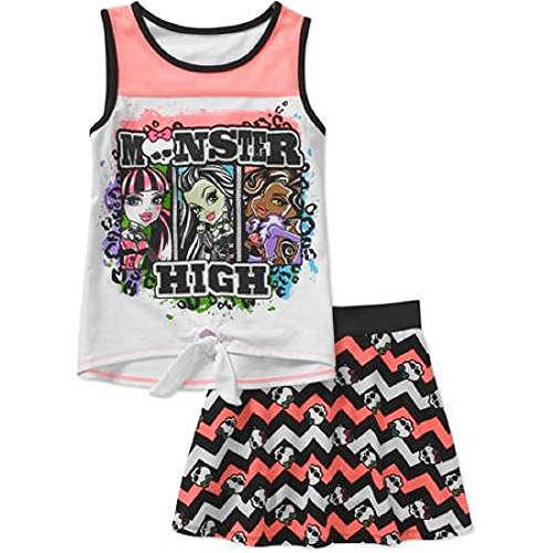 Monster Cable Girls's-xs- L Tie Front Scooter Set (Small ...