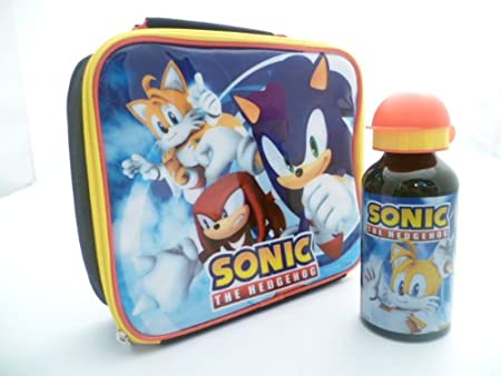 Sonic The Hedgehog Lunch Bag Box And Aluminium Sports Bottle Amazon Co Uk Kitchen Home