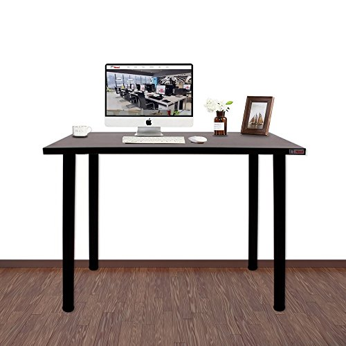 Need Black Walnut Simple Desk Work Desk Table -39.37'' Length Modern Writing Desk Gaming Desk Computer Desk, Black Walnut AC1CB(10060)