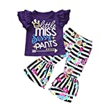 Appliances : Rucan 2Pcs/Set Fashion Toddler Kids Baby Girl Sleeveless T-Shirt Top+ Ruched Ruffle Pants Outfits (Purple, 12-18 Months)