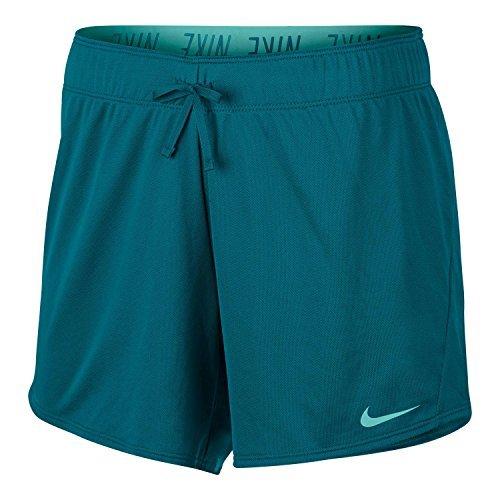 NIKE Womens Dry Training Logo Shorts Green (Nike Green Training Shorts)