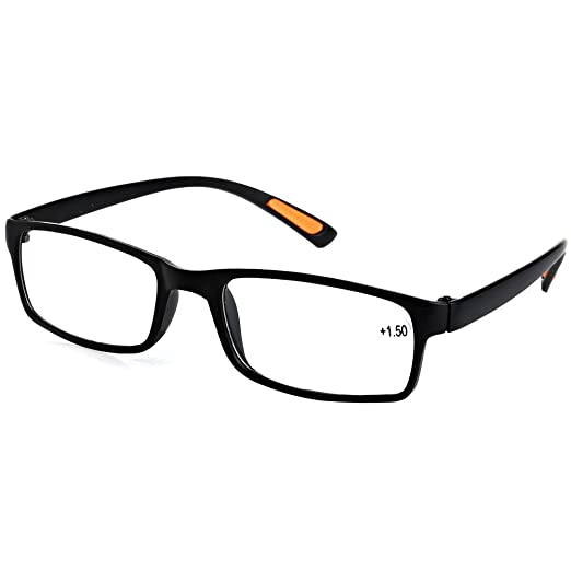 Amazon.com: Doober Resin Framed Eyeglass Reading Glasses +1.0 1.5 ...