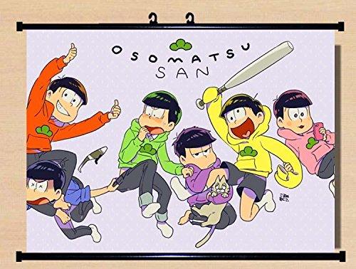 Home Decor Game Six Same Faces Konya wa Saikou Mr Osomatsu San Wall Scroll Poster Fabric Painting 23.6*16.1 b2 32