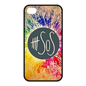 5sos Protective Rubber Cover Case for iPhone 4,iPhone 4s Cases
