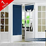 Tricia Window Door Curtain Blackout French Door Curtain Panel Thermal Insulated Room Darkening Curtain Panel with Rod Pocket, Energy Efficient Privacy Assured, 1 Panel, 26' x 68', Navy