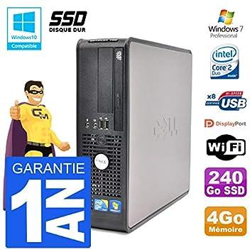 Dell PC 780 SFF Intel E7500 RAM 4 GB SSD 240 GB grabadora DVD WiFi ...