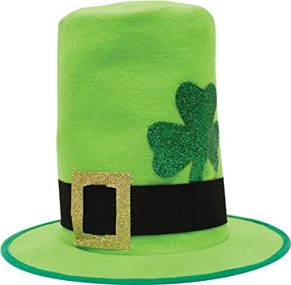 Amazon.com  Creative Converting St. Patrick s Day Felt Top Hat with ... d49d6fcefd79