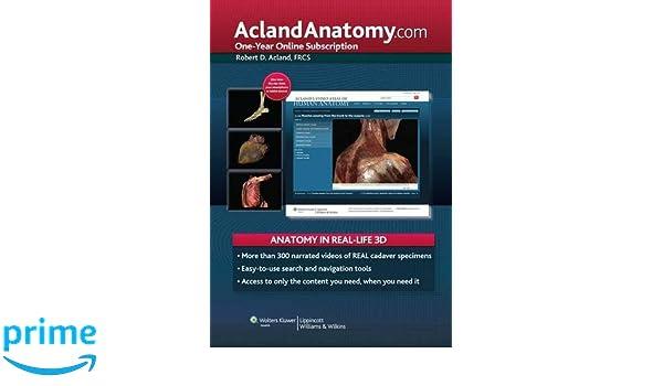 Aclandanatomy One Year Online Subscription 9781451145007