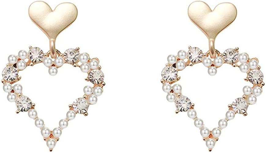 Great Gifts for Women Girls Pearl JXVLUYE Colors Earring for Women Girls Fashion Simple Style Earring