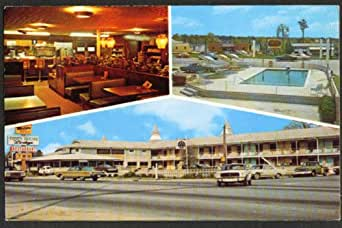 Town House Lodge US 17 Jacksonville NC postcard 1970 at