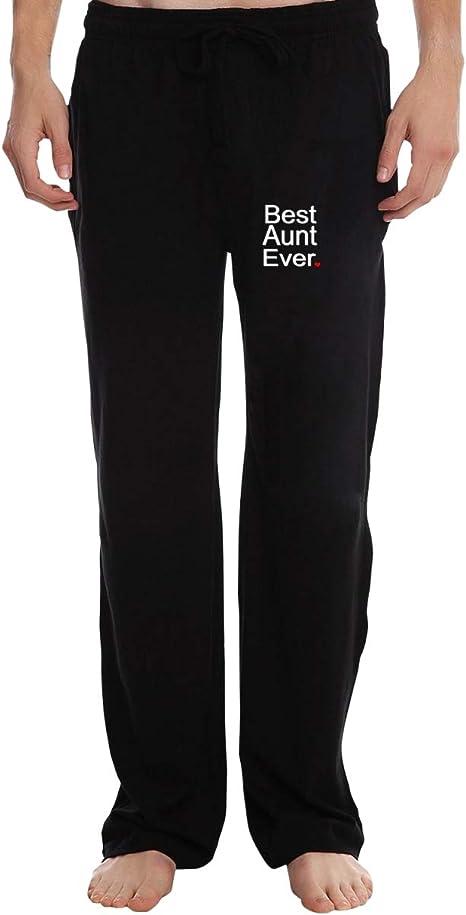 HSNiiY - Pantalón de chándal de algodón para tía, Hombre, Negro ...