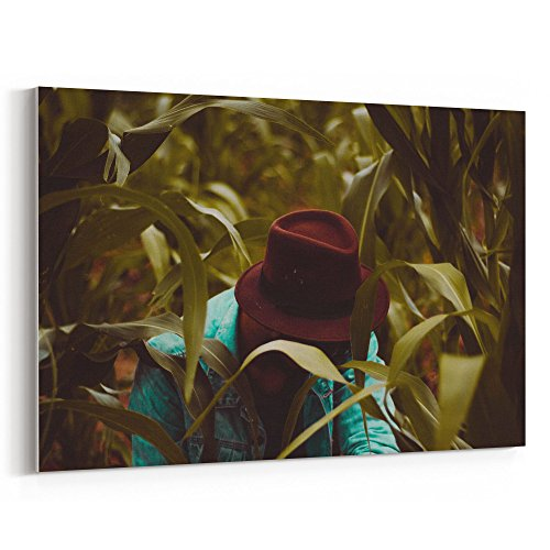 Westlake Art Look Style - Canvas Print Wall Art - By Canvas Stretched Gallery Wrap Modern Picture Photography Artwork - Ready to Hang 12x18 Inch (Cowboy Hats Near Me)