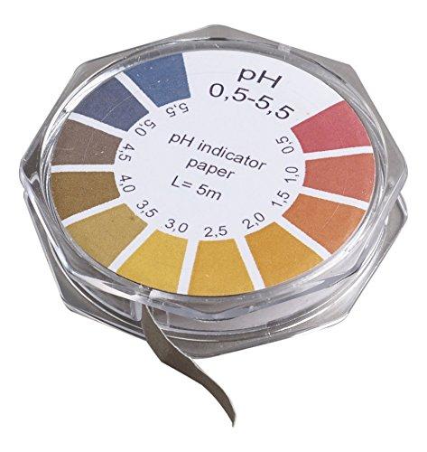 Camlab 1171262 Universal Indicator Paper, pH 0.5-5.0, 7 mm x 5 m