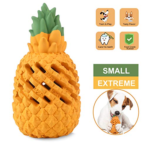 WENXUAN Pineapple Dog Chew Toys for Aggressive Chewer- Lifetime Replacement Guarantee, Indestructible Interactive Treat…