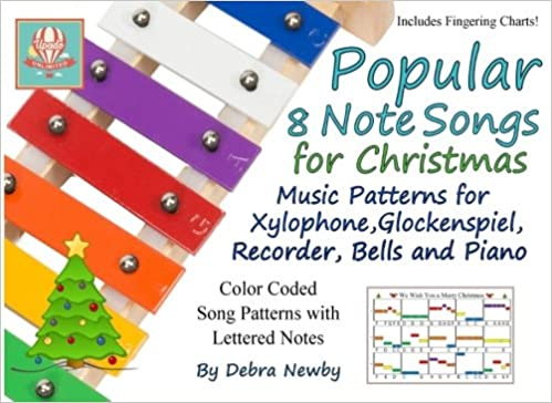 amazoncom popular 8 note songs for christmas music patterns for xylophone glockenspiel recorder bells and piano volume 3 9781548256241 debra - Amazon Christmas Music
